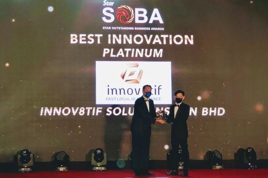Innov8tif wins Best Innovation Award at Star Outstanding Business Awards (SOBA) 2020